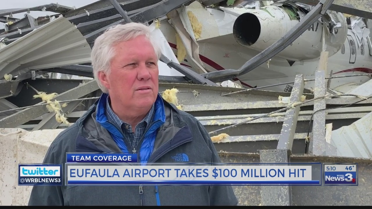 Eufaula Mayor Jack Tibbs talks about damage to airport