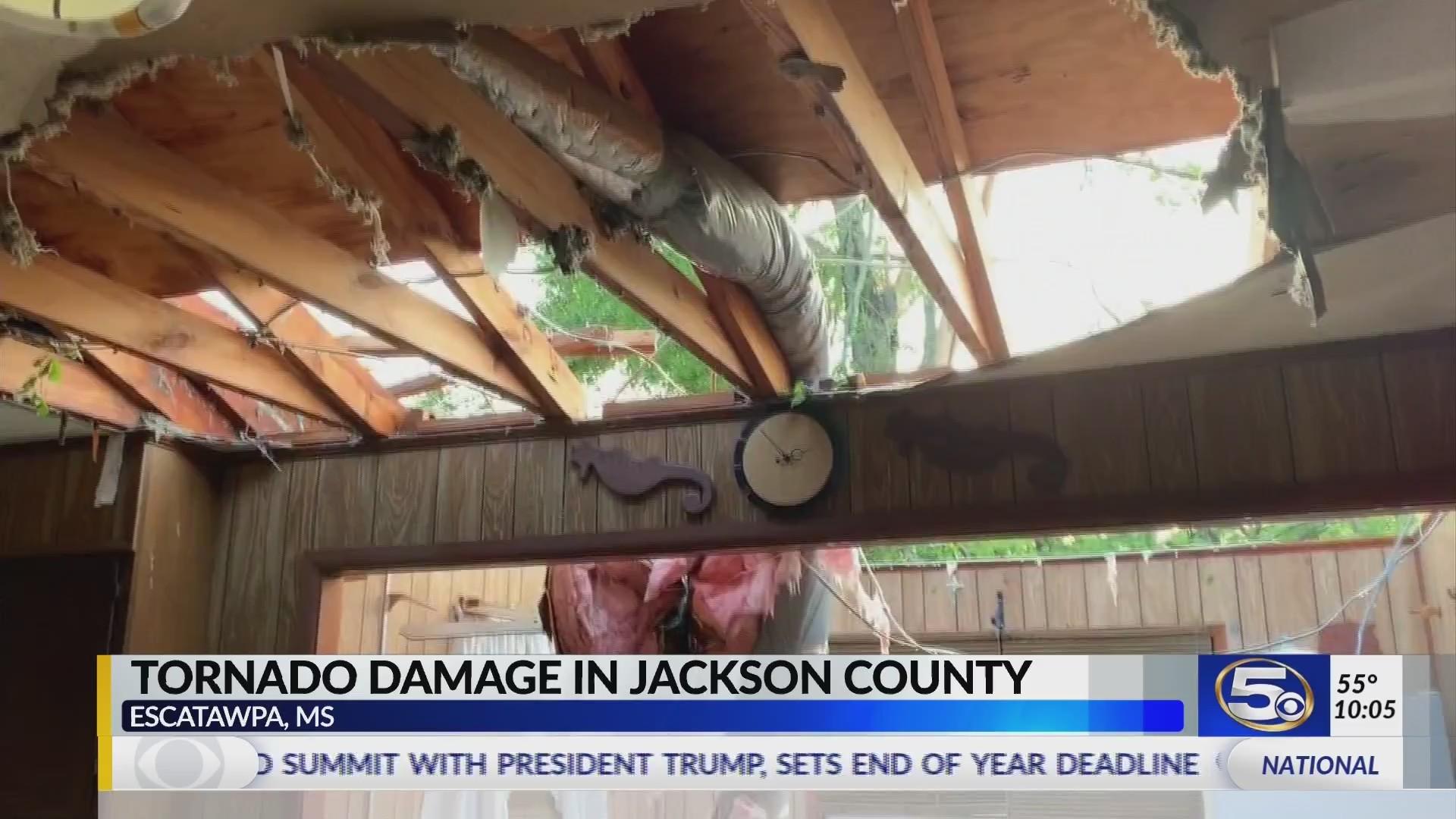 EF-1 tornado damages homes in Jackson County
