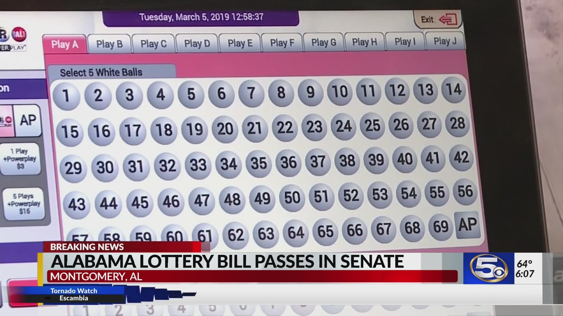 VIDEO: Lottery bill passes Alabama senate