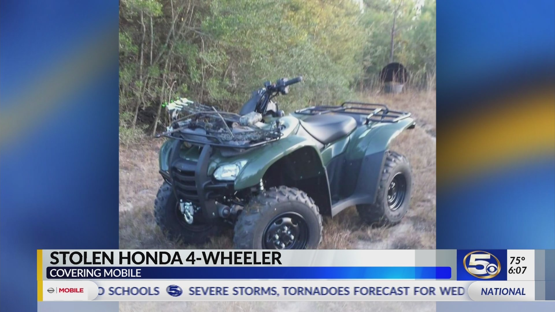 VIDEO: Man wanted for stealing 4-wheeler from West Mobile home