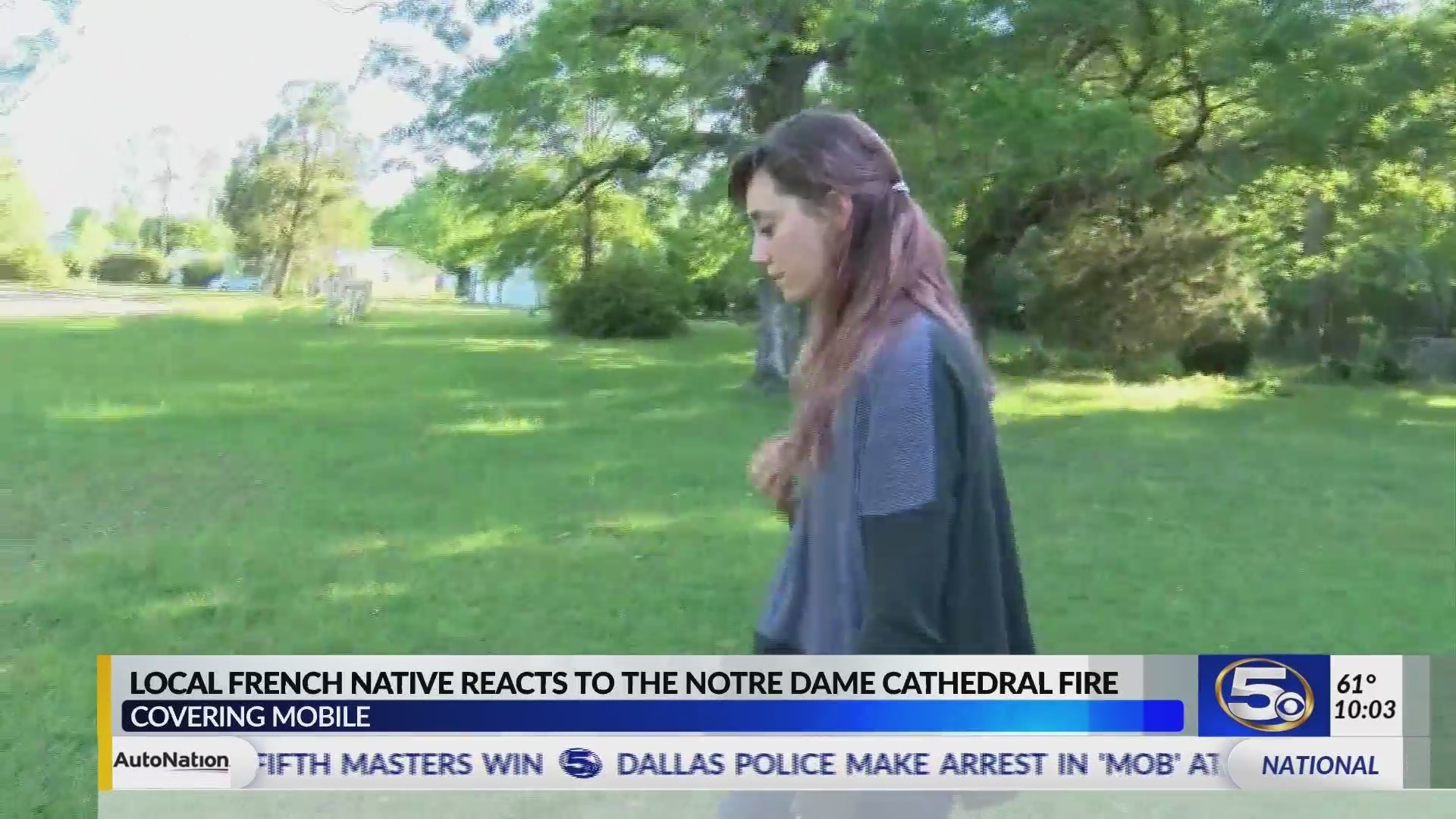 "VIDEO: ""I've been crying off and on all day,"" French native in Mobile reacts to Notre Dame fire"