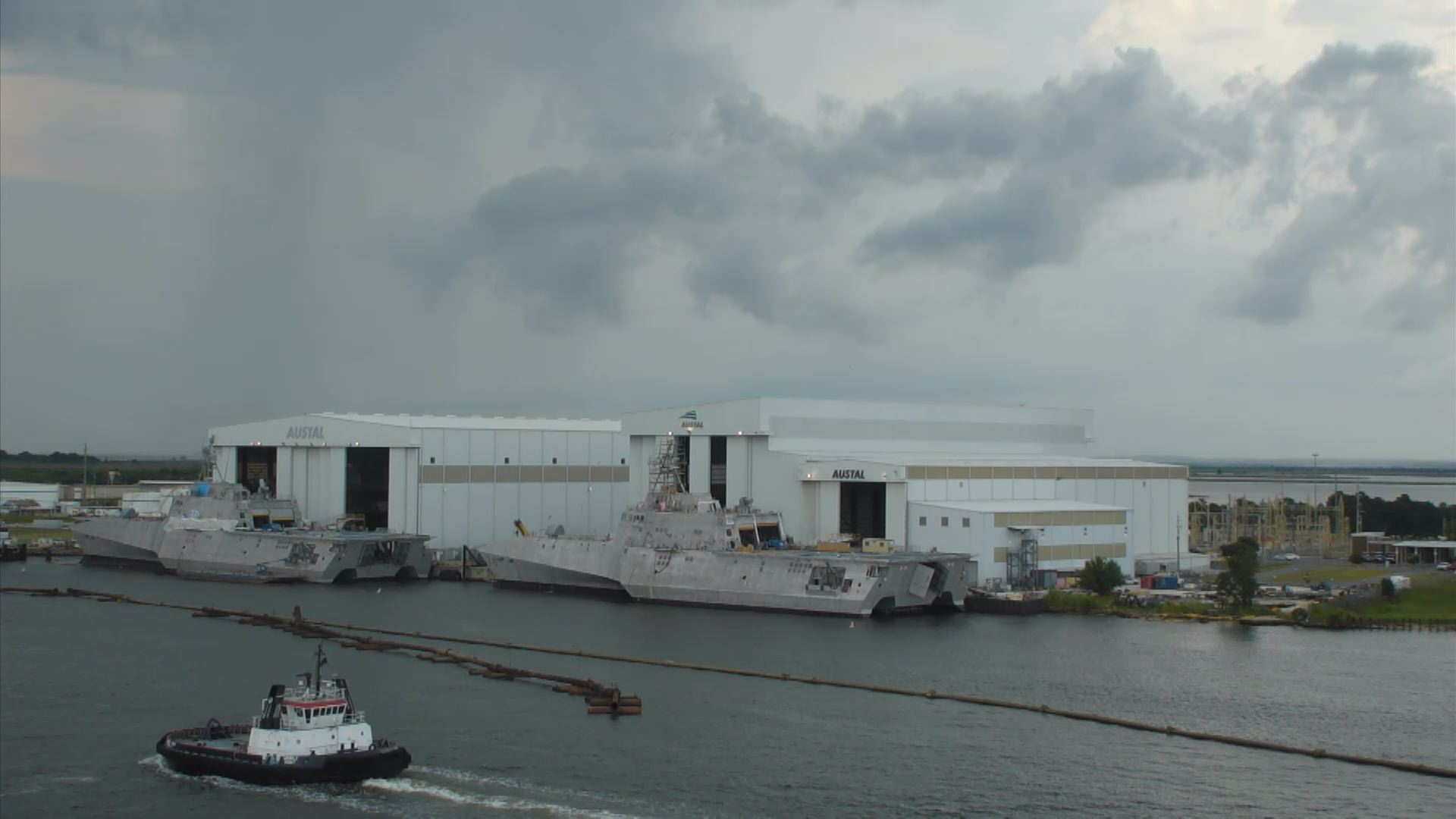 Austal USA sits along the Mobile River. It employs more than 4,000 people._214400