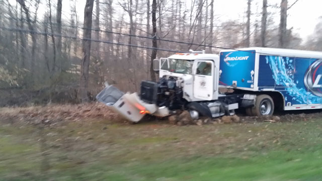 Bud Light truck crash_35938