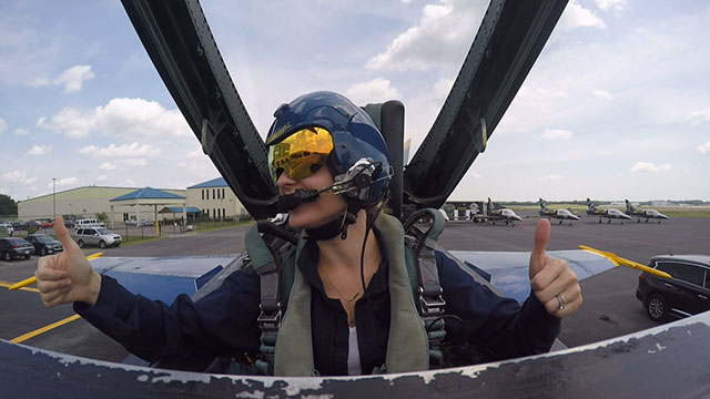 Samantha Fisher with Blue Angels_288429