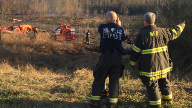 Brush fire burns 15 acres in Old Hickory
