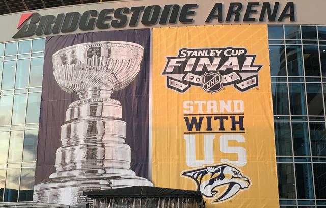 Bridgestone Arena with Stanley Cup banner_413802