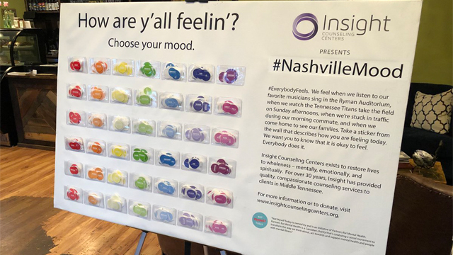 Interactive mood wall
