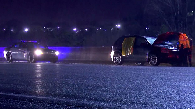 Baby hit by glass on I-65