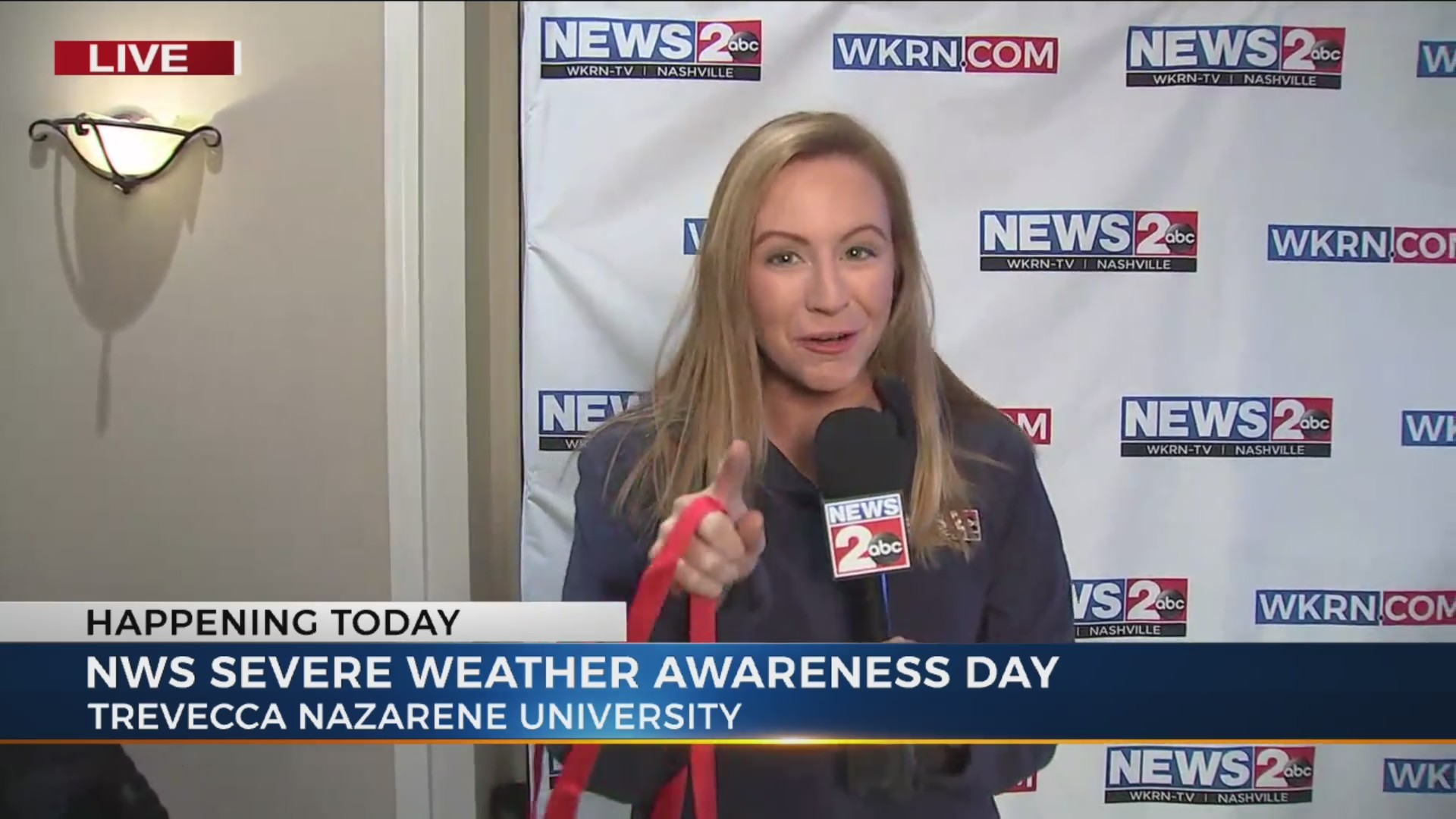 Danielle Breezy at NWS's Severe Weather Awareness Day