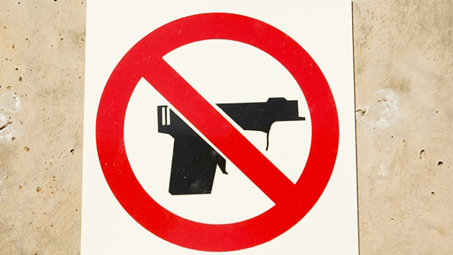 No guns sign