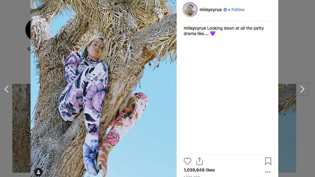 Miley Cyrus in Joshua tree