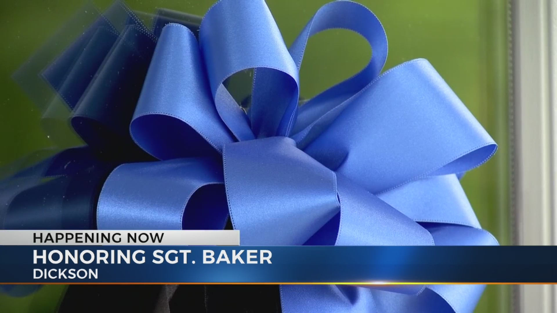 Dickson community mourns Sgt. Daniel Baker's death one year later