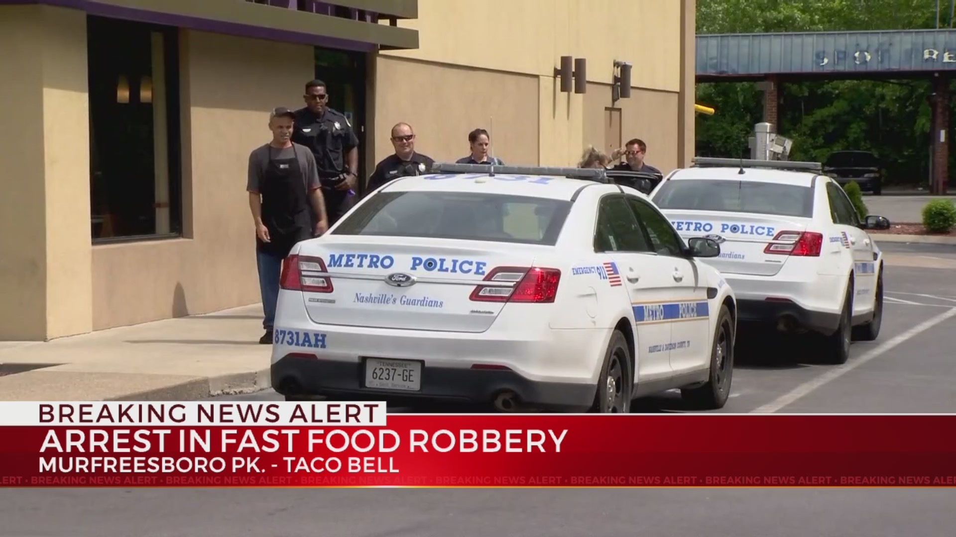 Suspect charged in South Nashville Taco Bell robbery