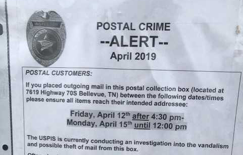 Post Office Warns About Possible Mail Theft In Bellevue