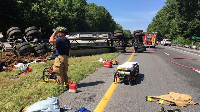 I-40 tanker crash Cheatham