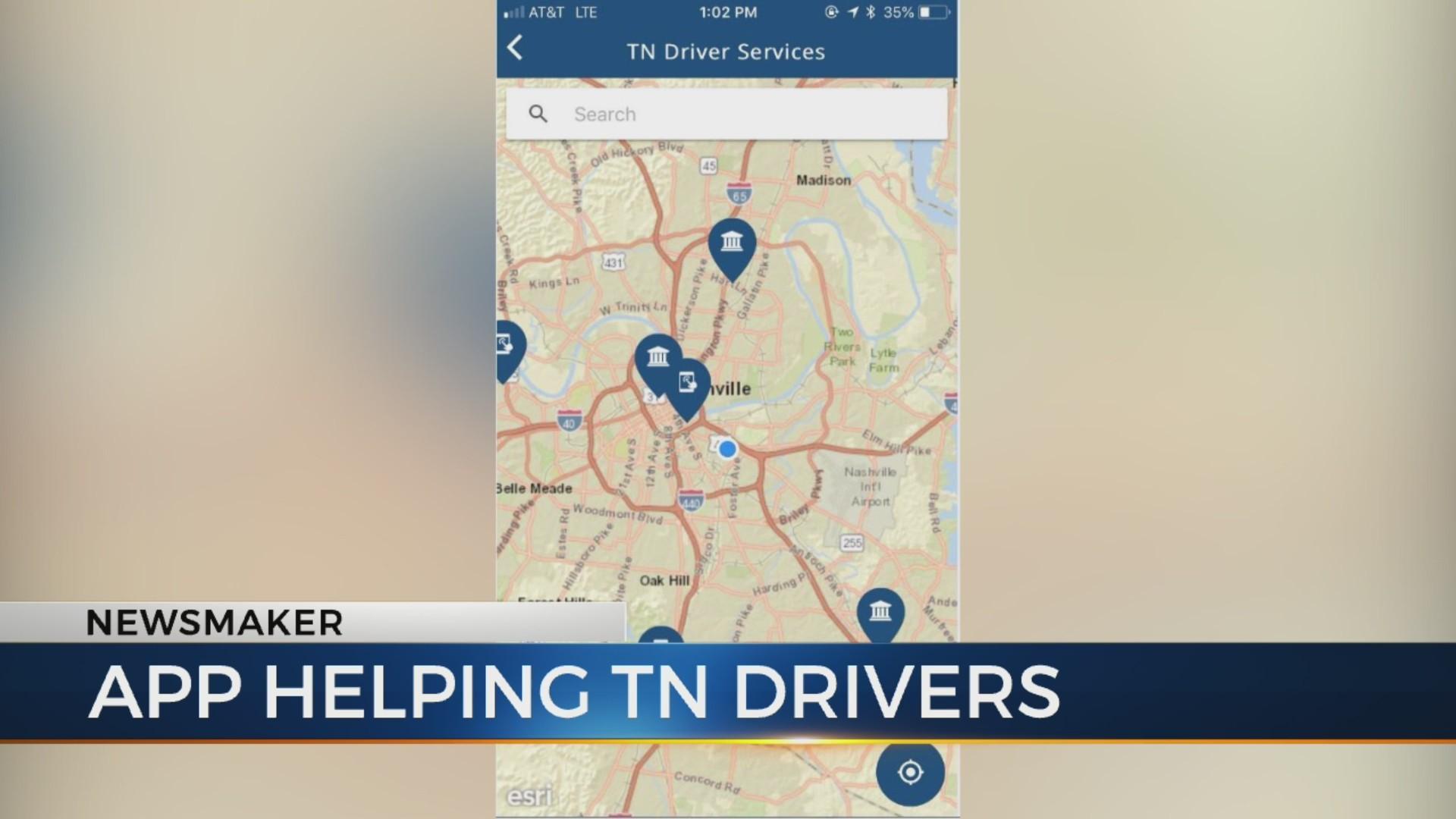 Newsmaker: App helping Tenn. drivers