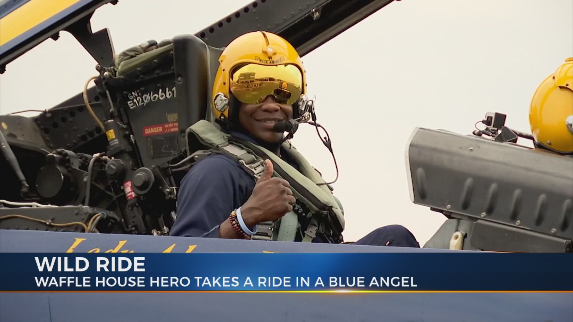 Waffle House hero James Shaw Jr. flies with Blue Angels