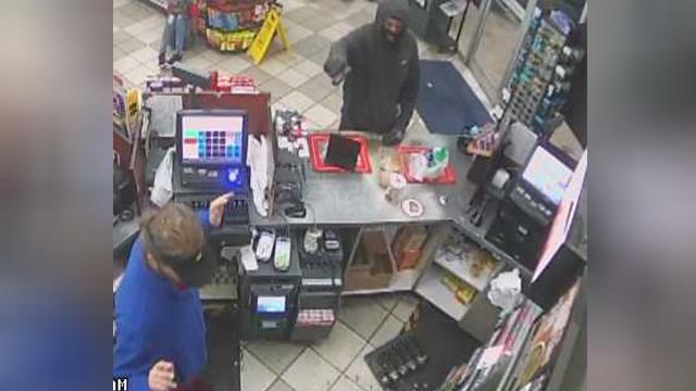 Vultee Boulevard Shell robbery surveillance