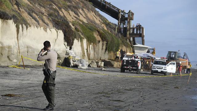 California cliff collapse
