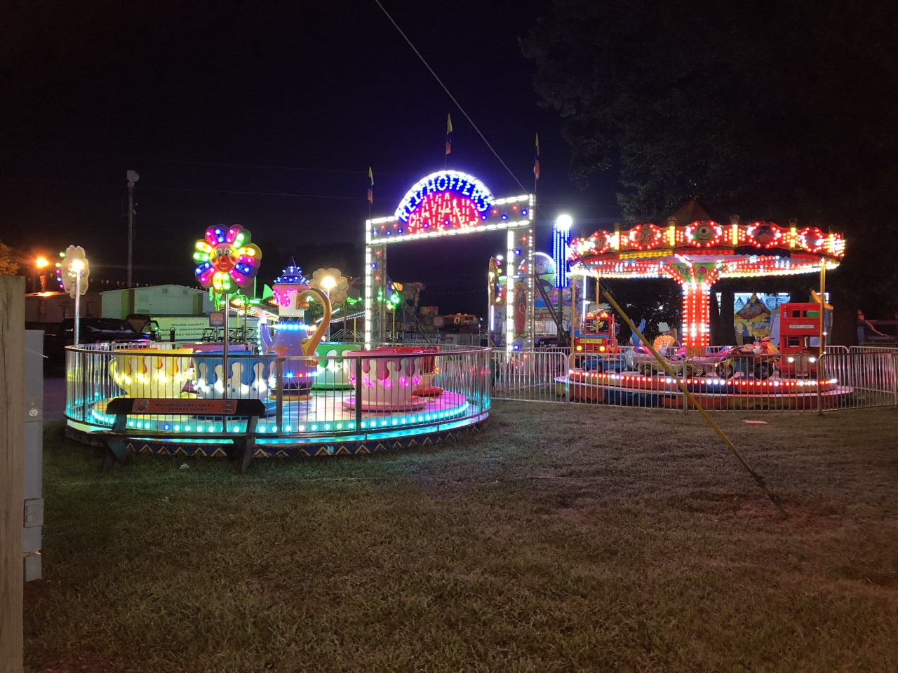 Wilson County fair kid rides