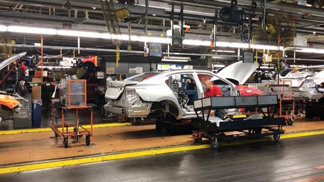 Inside Nissan plant