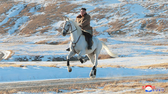 Kim Jong Un on horse