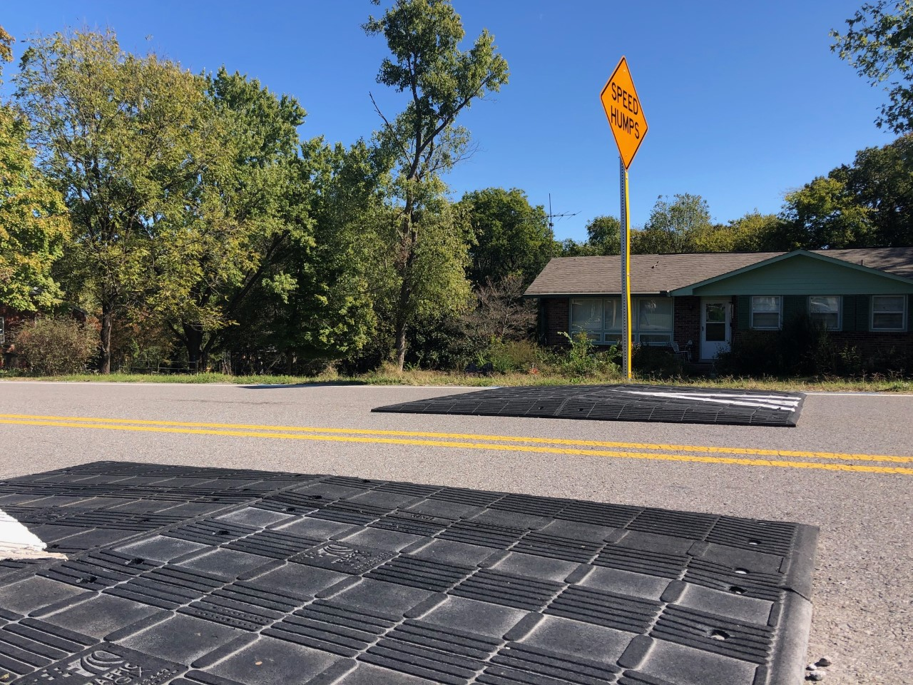 New speed hump along East Ridge Dr.