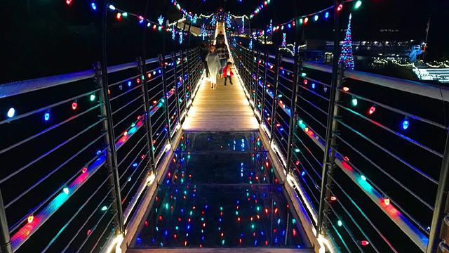 Gatlinburg Skybridge lights
