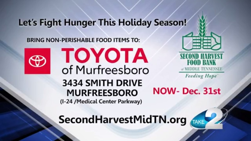 Toyota of Murfreesboro Second Harvest Food Drive