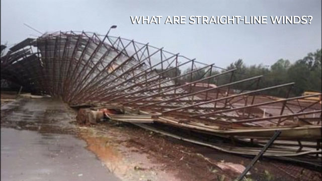 What are straight-line winds?
