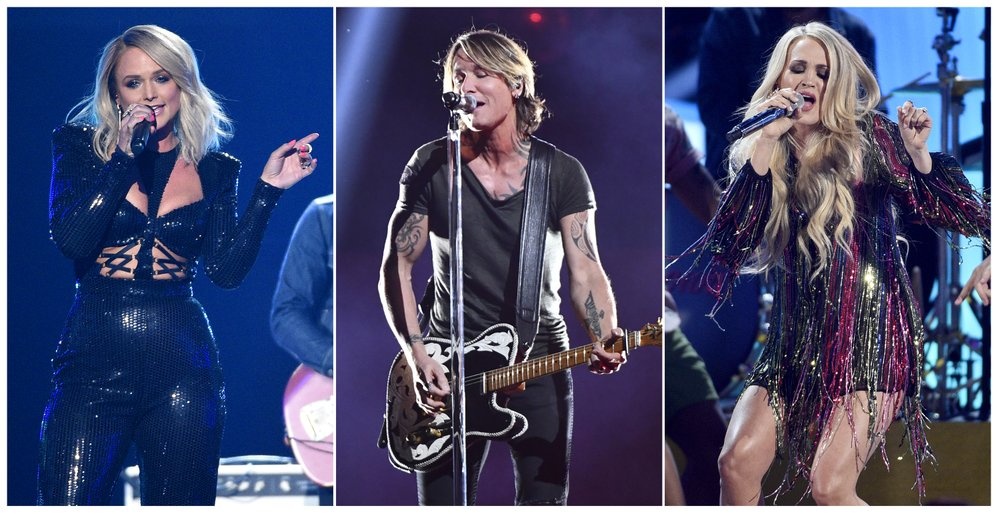 Miranda Lambert, Keith Urban and Carrie Underwood