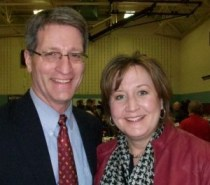 Kentwood Mayor Stephen Kepley and his wife Susan partake in the Taste of Kentwood.