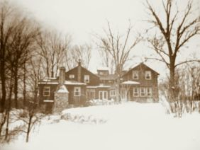The home in the winter of 1940.