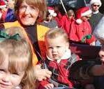 kids at santa parade
