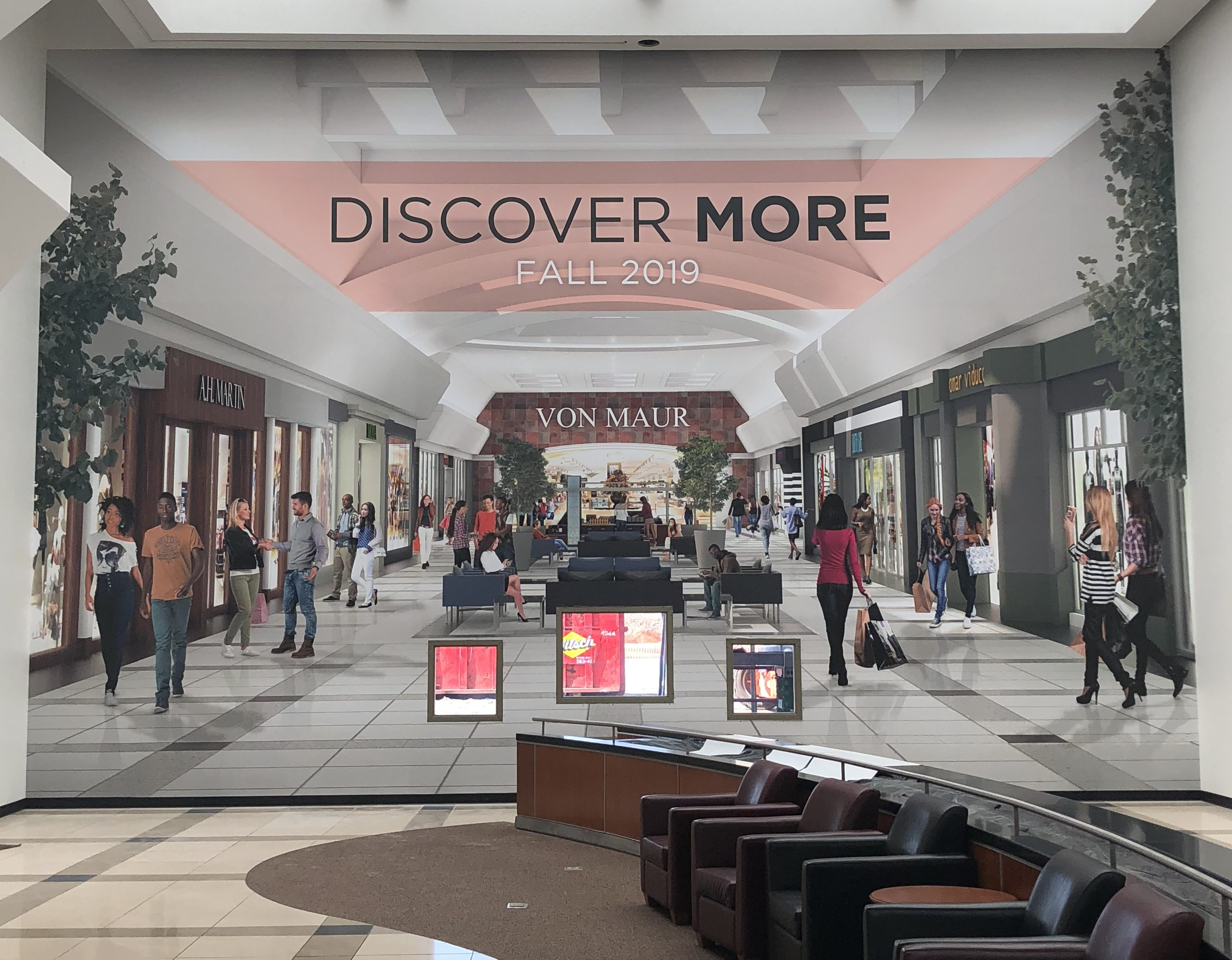 1eaeda13a08 The mall has installed a 24-foot by 36-foot graphic wall depicting what the  extended wing