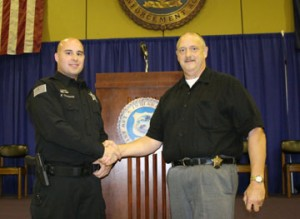 Frank Thomas and North Judson Police Chief Doug Vessely