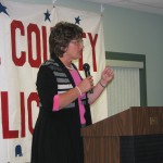 Congresswoman Jackie Walorski spoke to the crowd of more than 100 people of Congress activities.
