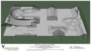 Hunger Skateparks produced this rendering of the proposed Winamac Skatepark.