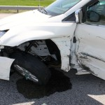 The Pontiac struck the left side of the minivan, which was northbound on U.S. 35.