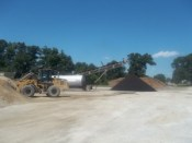 Starke County Highway Department employees recently made asphalt and patch material for seasonal road repairs.