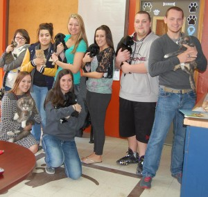 Oregon-Davis High School Chemistry 2 students visited the Starke County Humane Society on Friday, April 10.