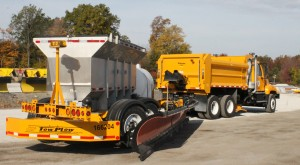 INDOT's new Tow-Plow truck will allow a driver to clear two lanes at once.