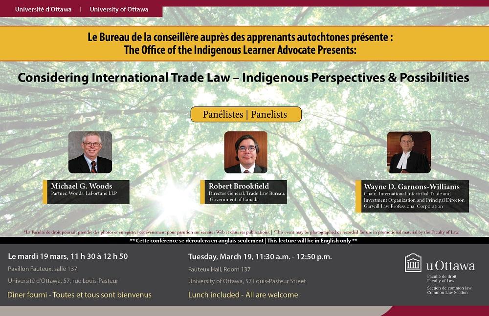 Considering international trade law u indigenous perspectives