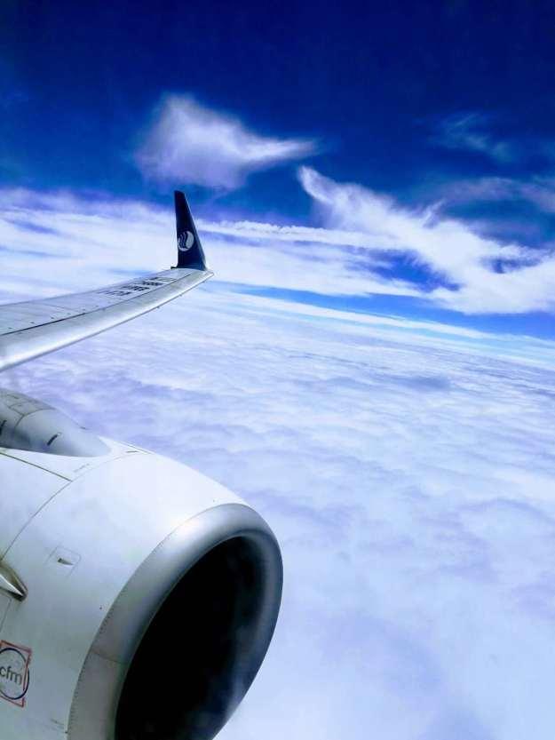 山航波音737机翼