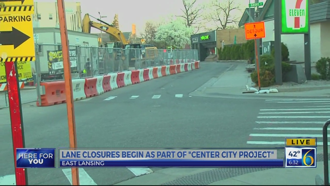 EL City Center project causes new road lane closures