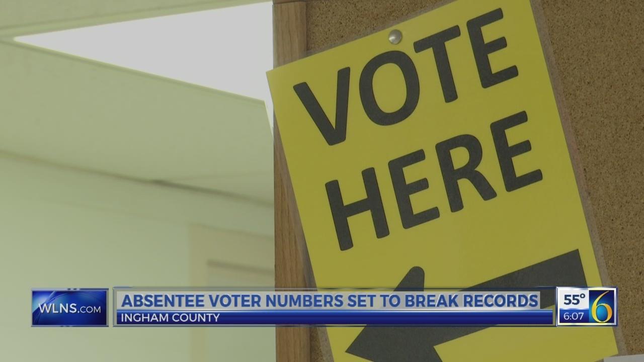 Absentee voter numbers set to break records