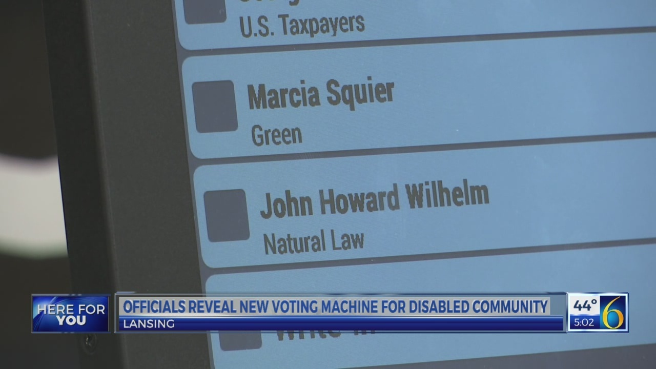 New voting equipment for disabled community