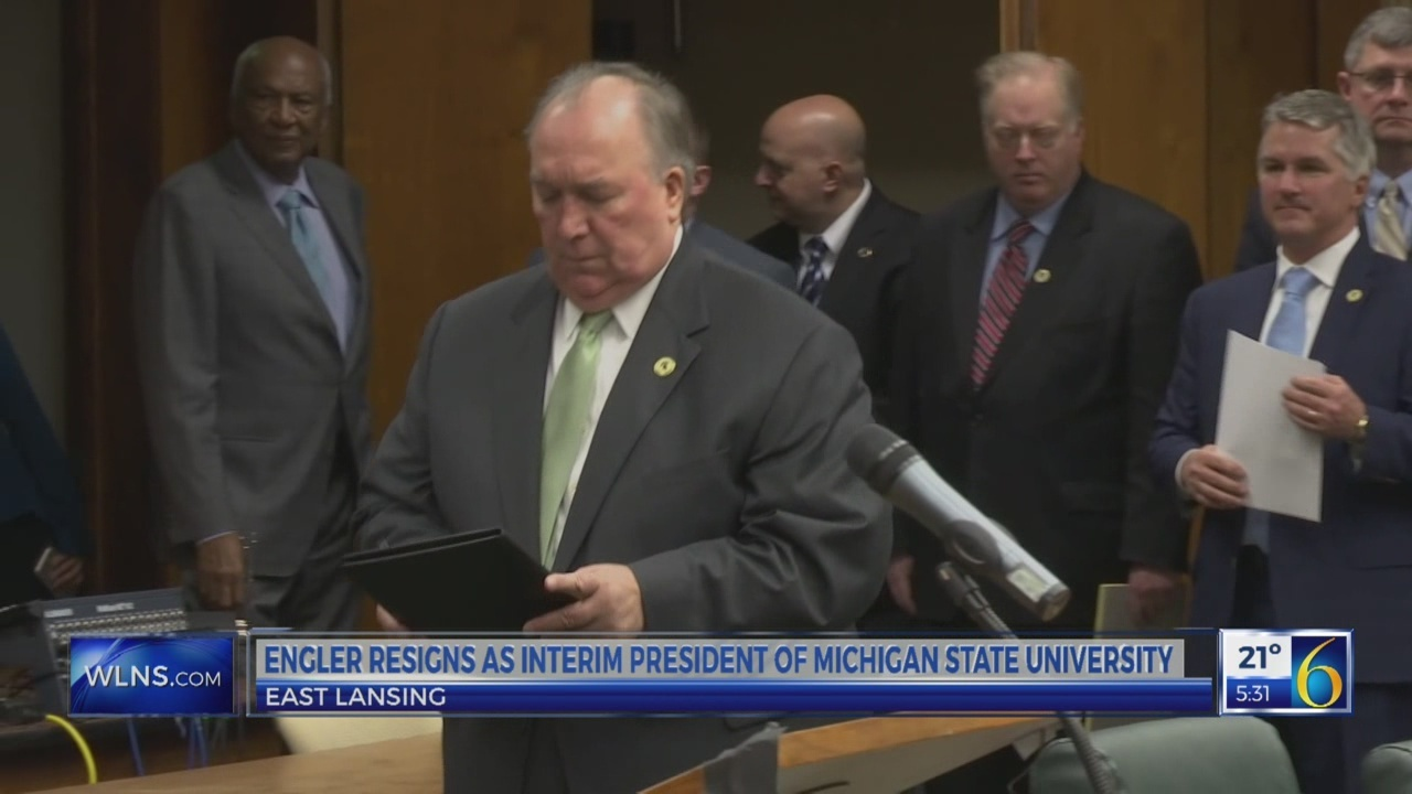 6 News at 5:30 a.m.: engler resigns, meeting today
