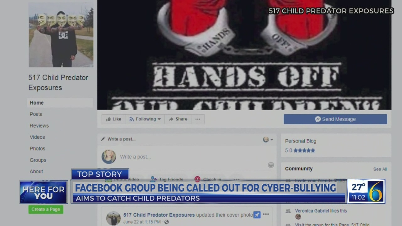 Facebook group accused of cyber bullying