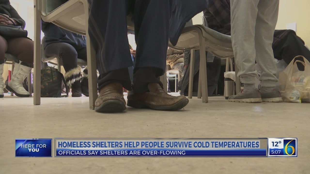 Homeless shelters help people out on the streets fight cold weather